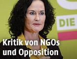 Die Bundessprecherin der Grünen Eva Glawischnig