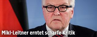 Deutscher Außenminister Frank-Walter Steinmeier