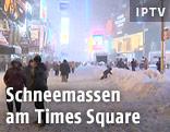 Schneemassen am Times Square