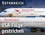 Austrian-Airlines-Flugzeuge