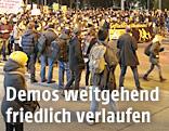 Demonstranten gegen rechten Akademikerball