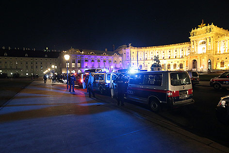 Polizisten am Heldenplatz