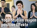 Yogis beim Yoga