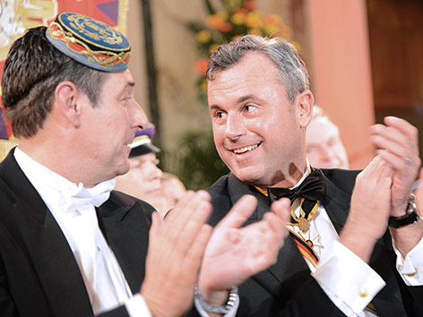 Heinz-Christian Strache und Norbert Hofer beim Akademikerball