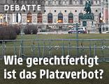 Absperrzäune vor der Hofburg