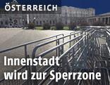 Absperrungen vor der Hofburg