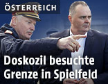 Landespolizeidirektor der Steiermark Josef Klamminger und Verteidigungsminister Hans Peter Doskozil (SPÖ)
