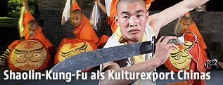 Shaolin-Schüler beim Kämpfen