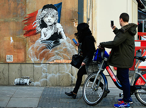 Street-Art-Wandbild von Banksy in London