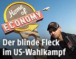 """Werbetafel von """"Home of Economy"""""""