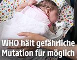 Neugeborenes mit Zika-Virus in einem Wartesaal