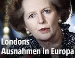Englische Premierministerin Margaret Thatcher 1986