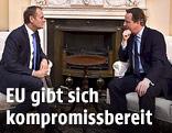 Britischer Premier David Cameron und EU-Ratspräsident Donald Tusk