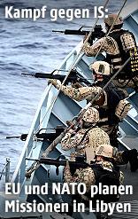 """Soldaten auf einem Frachter während der """"Operation Sophia"""""""