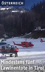 Rettungskräfte in Tirol