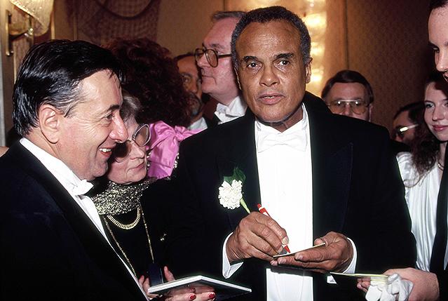Harry Belafonte und Richard Lugner (1992)