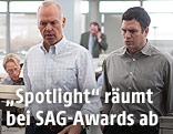 "Michael Keaton und Mark Ruffalo in ""Spotlight"""
