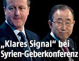 Britische Premierminister David Cameron und UNO-Generalsekretär Ban Ki Moon