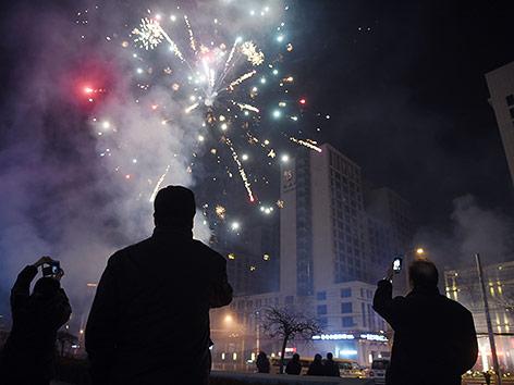 Feuerwerk in China