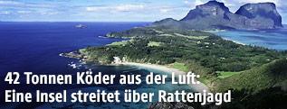 Luftbildaufnahme der australischen Insel Lord Howe Island