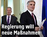 Bundeskanzler Faymann und Vizekanzler Mitterlehner