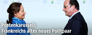 Frankreichs Umweltministerin Segolene Royal und der französische Präsident Francois Hollande