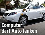 Ein selbstfahrendes Auto von Google