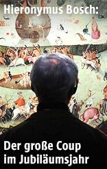 Museumsbesucher betrachtet ein Gemälde von Hieronymus Bosch