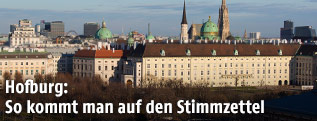 Stadtansicht von Wien mit Hofburg