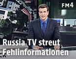Nachrichtensprecher in Russia TV