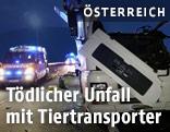 Feuerwehreinsatz nach Unfall mit Tiertransporter