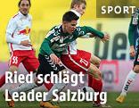 Szene aus dem Spiel Ried - Salzburg