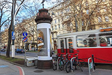 Alte Litfaßsäule in Wien