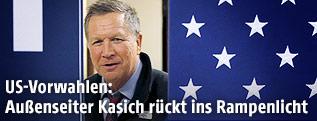 Der republikanische US-Präsidentschaftskandidat John Kasich