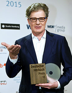 Roger Willemsen mit dem deutschen Hörbuchpreis 2015