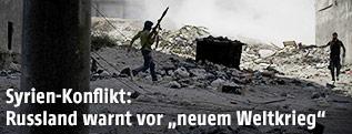 Syrische Rebellen während eines Gefechts