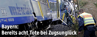 Entgleister Zug