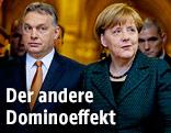 Der ungarische Ministerpräsident Viktor Orban und die deutsche Kanzlerin Angela Merkel