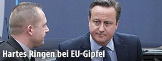 Der britischen Premier David Cameron