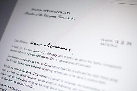 Screenshot zeigt Brief der EU-Behörde