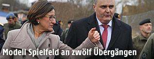 Innenministerin Johanna Mikl-Leitner (ÖVP) und Verteidigungsminister Hans Peter Doskozil (SPÖ)