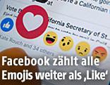 Emojis auf Facebook-Seite