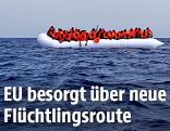 Schlauchboot mit Flüchtlingen
