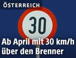 Geschwindigkeitsbegrenzung 30km/h
