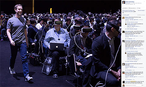 Mark Zuckerberg auf der Mobilfunkmesse