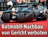 """Das """"Batmobil"""" bei einer Filmpremiere zu """"Batman"""""""