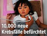 Schilddrüsenuntersuchung bei einem Mädchen