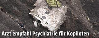 Trümmerteil der verunglückten Germanwings-Maschine
