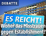 AfD-Wahlplakat vor einem Plattenbau