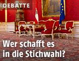 Innenraum der Präsidentschaftskanzlei in der Wiener Hofburg